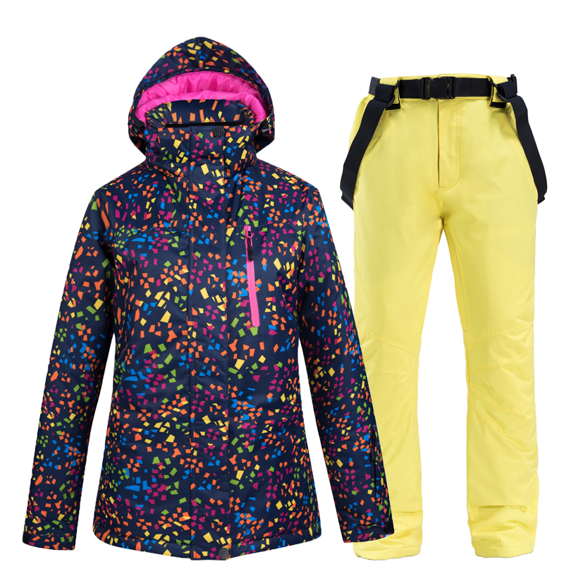 Ski Suit Women Winter New Thermal Waterproof Windproof Clothes Snow Pants Ski Jackets Women Sets Skiing And Snowboarding Suits