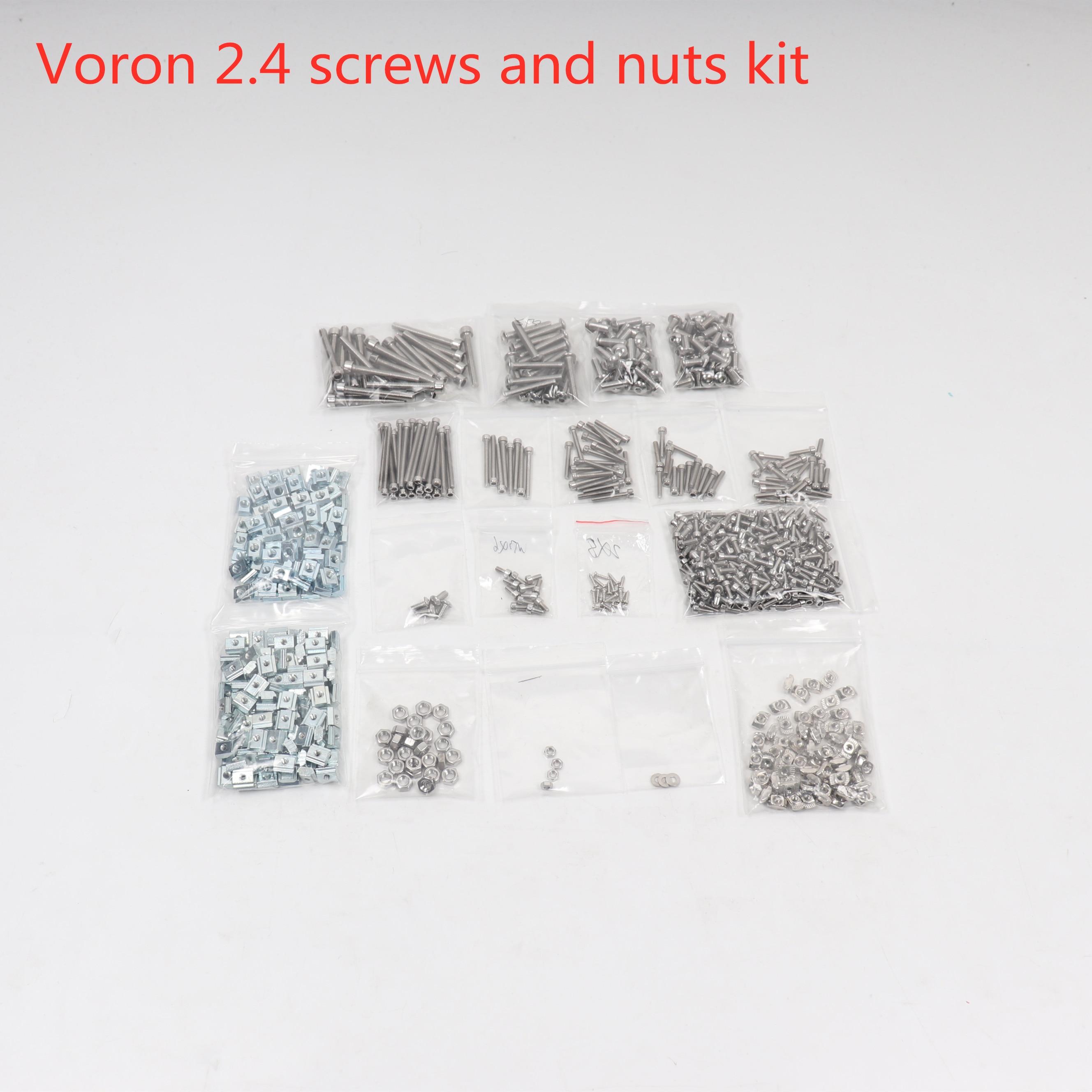 Blurolls Voron 2.4 3d Printer Project Fasteners Screws Nuts Full Kit