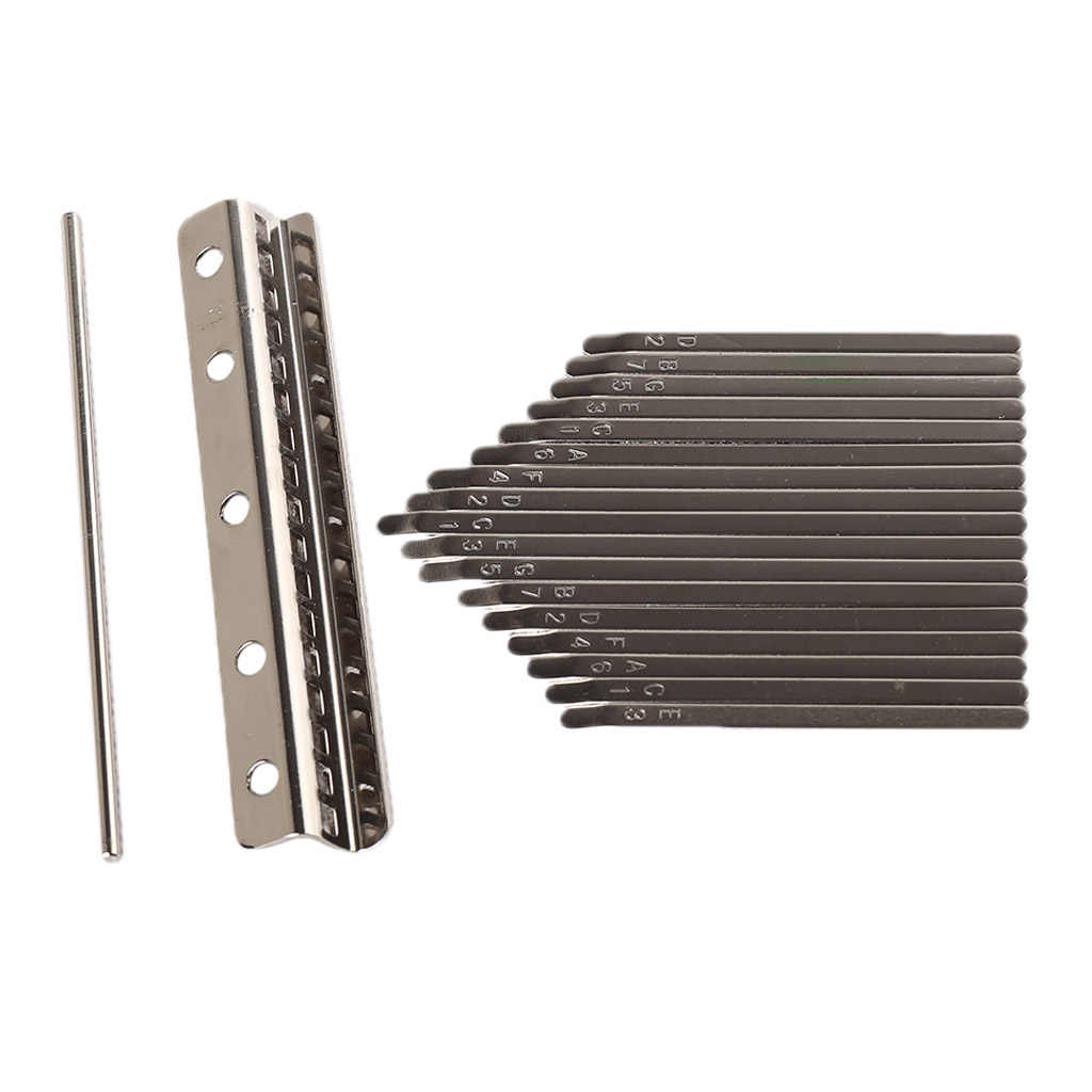 Kalimba-Schlüssel und Kalimba-Brücke DIY Ersatzteile für Kalima bauen