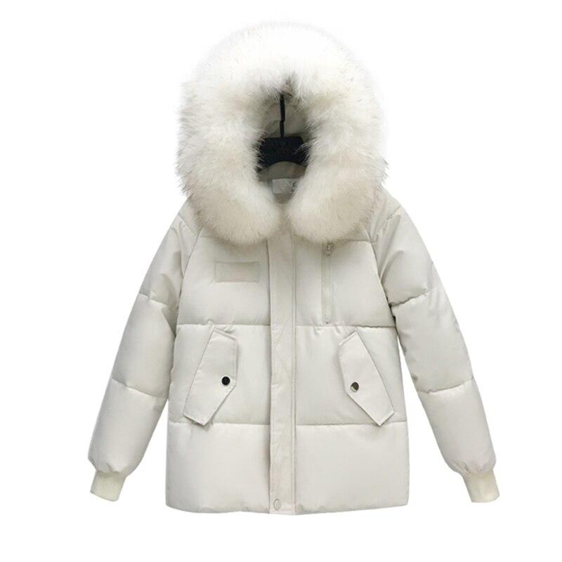 2019 Artificial raccoon fur collar winter jacket women Winter And Autumn Wear High Quality   Parkas   Outwear Women Long Coats