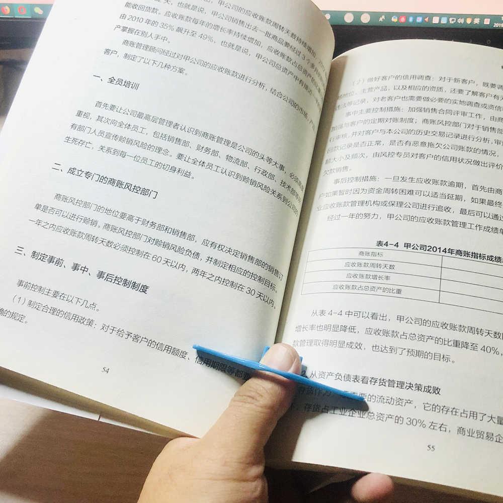ブックページホルダー親指ブックマーク PP 材料読書のためのリーダーブック愛好家虫司書文学