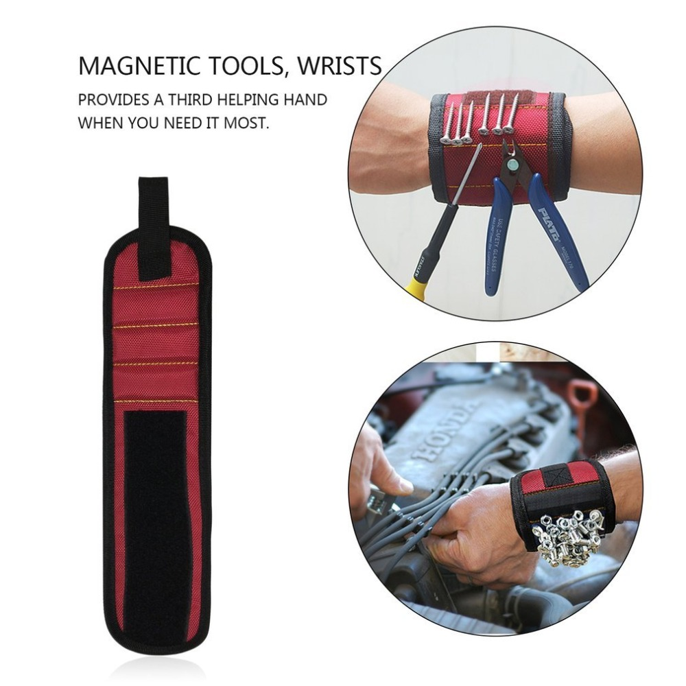 Magnetic Wrist Support Band With Strong Magnets For Holding Screws Nail Bracelet Belt Support Chuck Sports Dropshipping