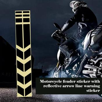 Motorcycle Reflective Arrow Line Warning Stickers Motorcycle Fender Stickers Decorative Stickers Motorcycle Accessories image