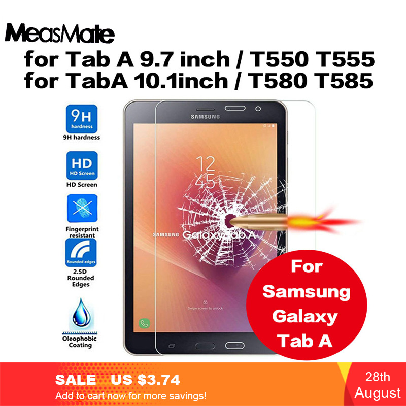 9H Premium Tempered Glass For SM-T580 Screen Protector For Samsung Galaxy Tab A T550 T555 T580 T585 Protective Glass Film