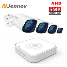 Jennov 5MP 4CH Cctv Camera Scurity Systeem Kit Ip Video Surveillance Outdoor Video Monitoring Dvr Ahd Camera Remote View P2P hd