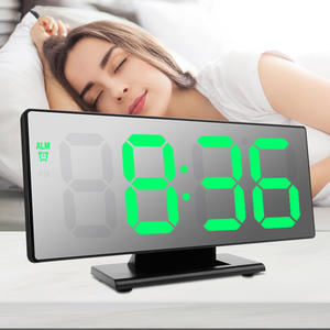 SAlarm-Clock Mirror T...
