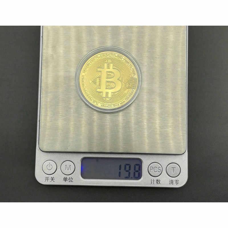 Placcato Oro Us Moneta D'oro Bitcoin Btc Moneta Valuta Estera Virtuale Moneta Commemorativa Della Novità Raccogliere Storico Memorabilia