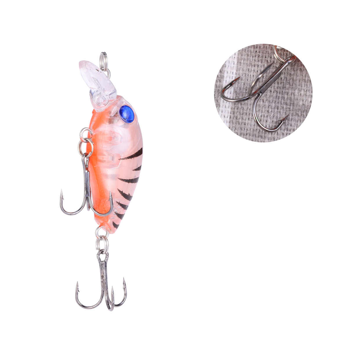 Señuelo de pesca duro de plástico realista, señuelo duro flotante, señuelo de pesca, cebo duro de roca para agua salada