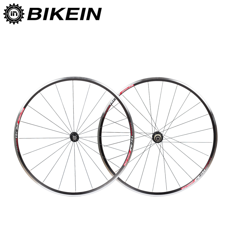 BIKEIN Ultralight Aluminum CNC <font><b>6</b></font> Bearing Cycling Road <font><b>Bike</b></font> <font><b>Wheels</b></font> 700C 14G <font><b>Spokes</b></font> Rim 9/10/11 Speeds V-Brake Bicycle Wheelset image