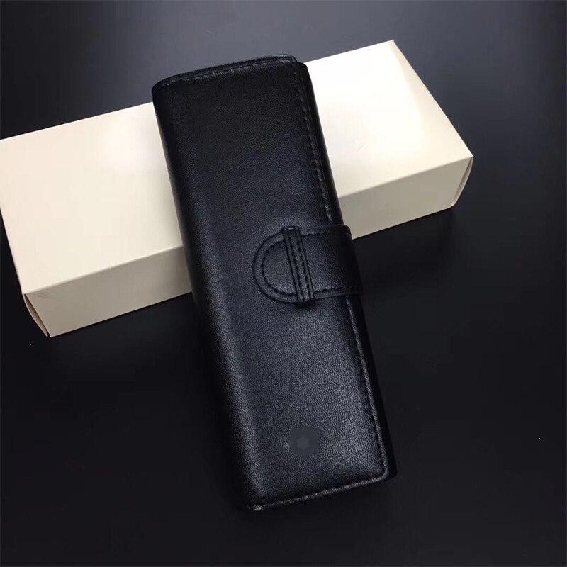 Stylo plume MB, stylo signature, étui à stylo en cuir, peau de vache de première couche, adapté à tous les modèles de stylo
