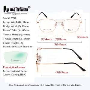 Image 3 - Aanpassen Recept Brillen Bijziendheid Bril Progressieve Bril Super Light Titanium Bril Frame Hars Lenzen