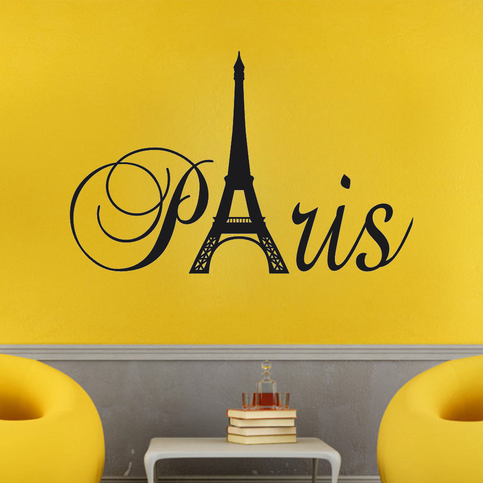 Home Decor Tower Logo Wall Sticker Vinyl Decal DIY Kids Bedroom