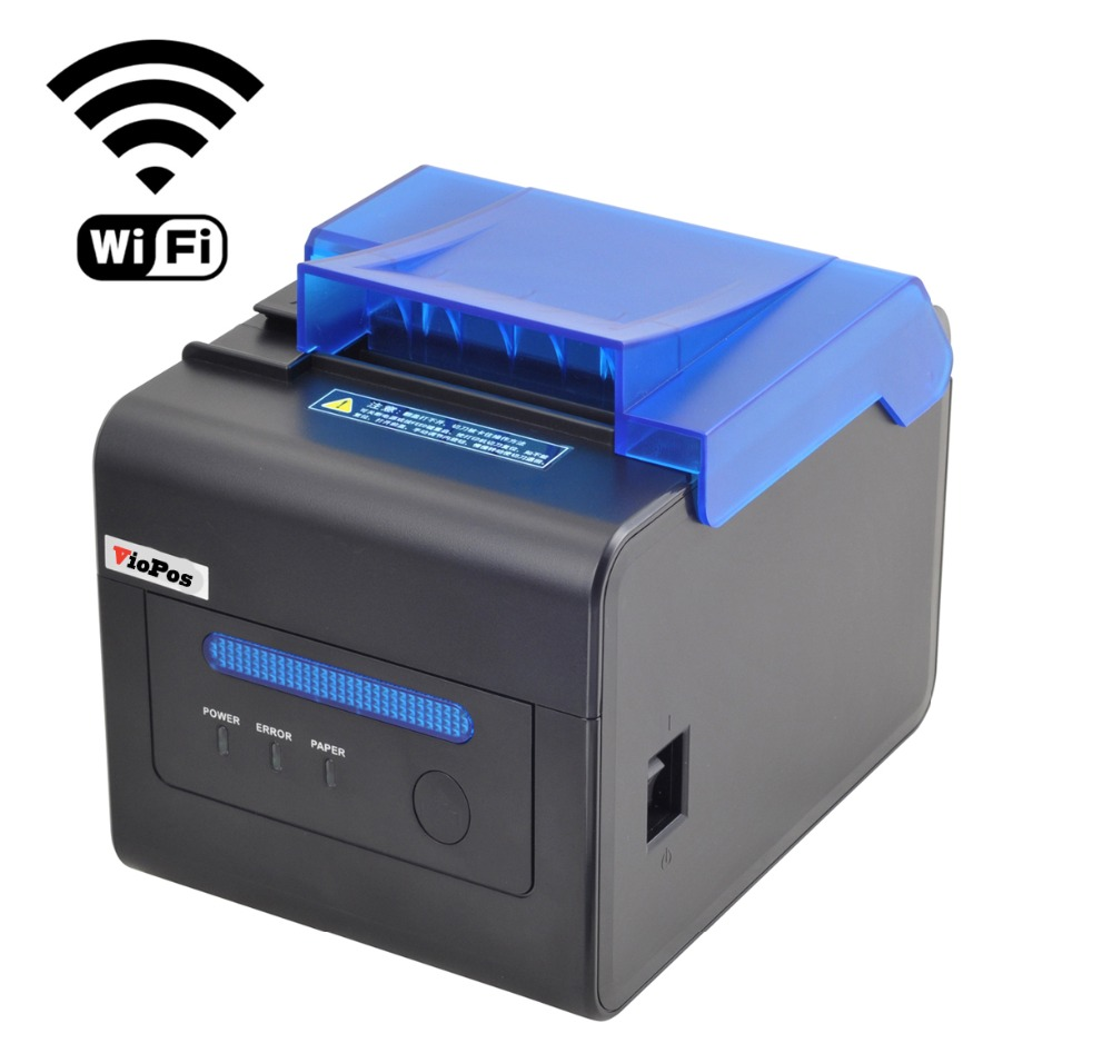 80mm High Stability Kitchen Printer High Speed 300mm  Auto Cutter USB+Ethernet+Serial Interface POS Printer Big Speaker Remind