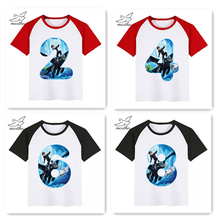 все цены на BoysGirls Happy Birthday Number 2-12 Toothless The Night Fury Cartoon T Shirt Kids Funny Clothes Children Summer Baby T-shirt