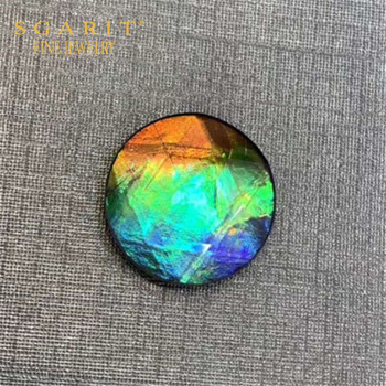 colorful round loose gemstone for women jewelry making natural Canada ammolite 1