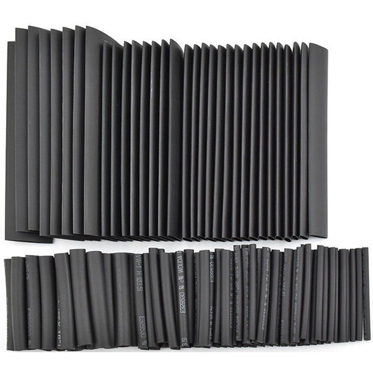 Hot New 127Pcs Black Glue Weatherproof Heat Shrink Sleeving Tubing Tube Assortment Kit