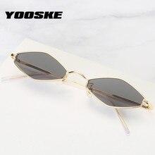 YOOSKE 2020 Small Sunglasses Women Men Brand Designer Rhombu