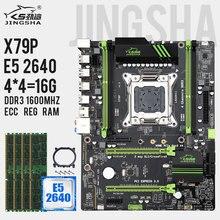 X79 p placa mãe lga 2011 combo com e5 2640 cpu, 16gb = 4x 4gb ddr3 ram 1600mhz ddr3 ecc reg apoio usb3.0 sata3 m.2