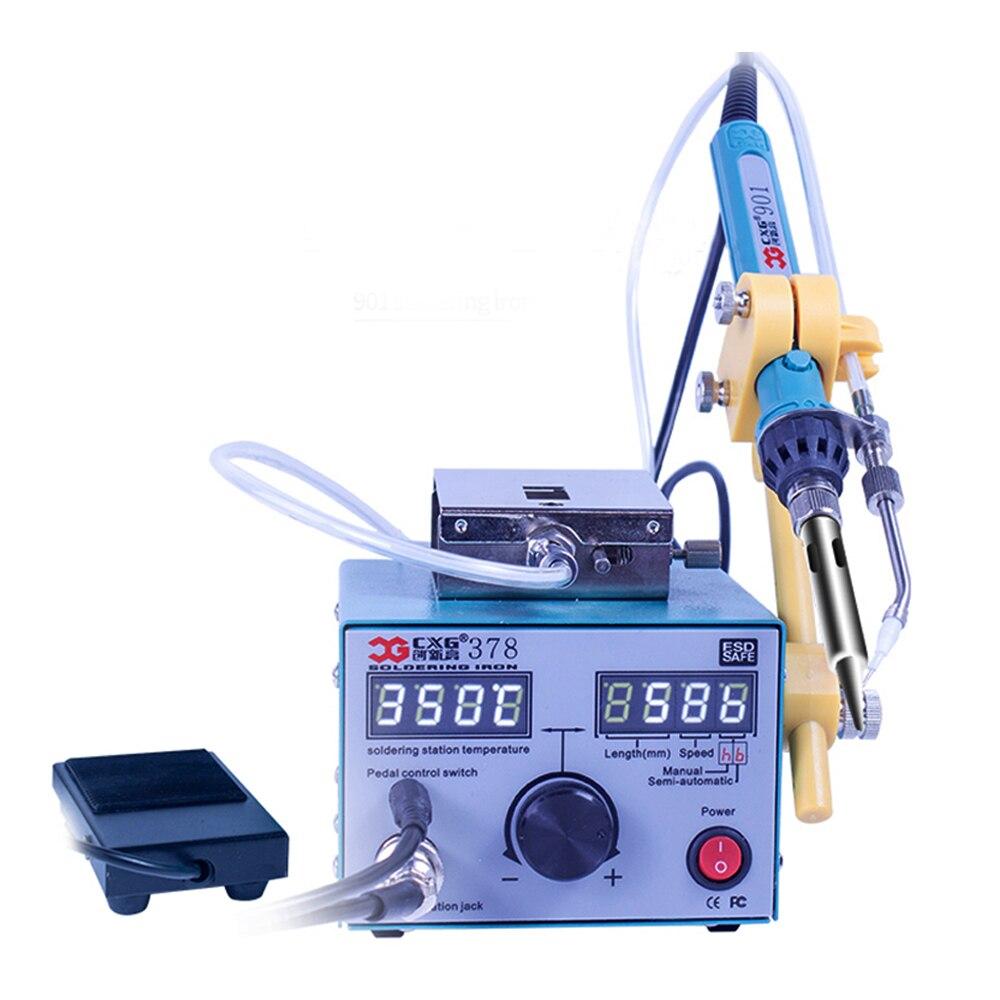 CXG 378 80 Вт автоматическая паяльная машина/машина для подачи олова/набор паяльных станций/паяльник для внутренней непрерывной сварки