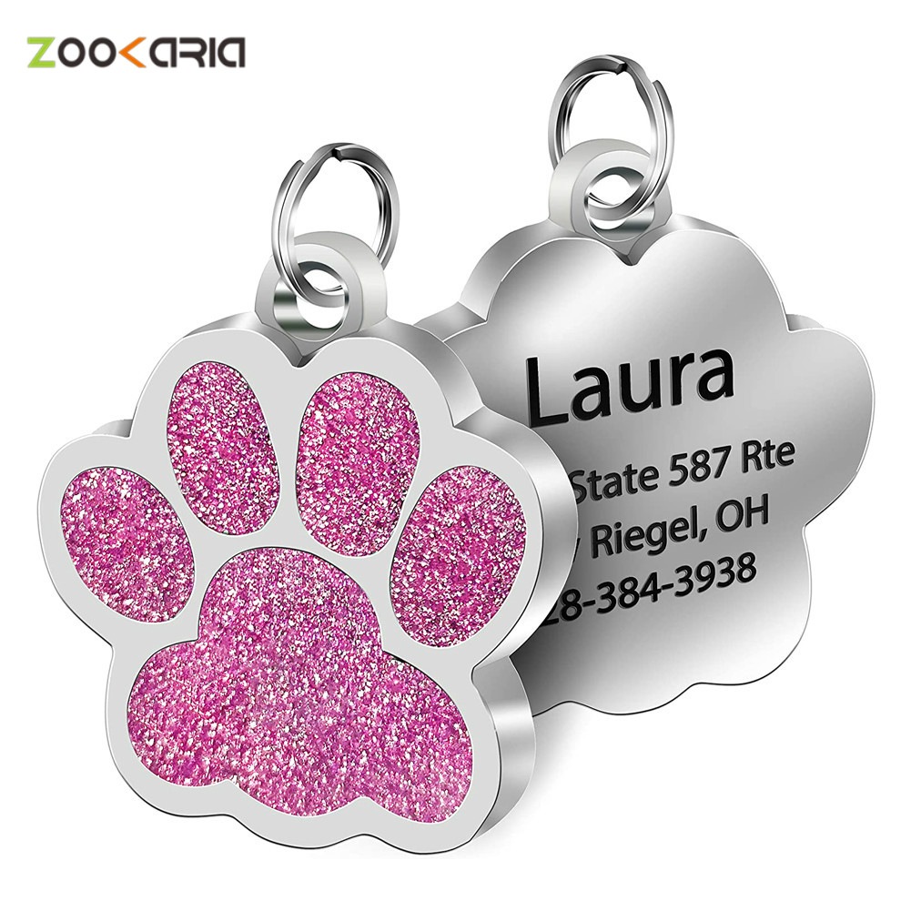 Customized Pet ID Tags Engraved Pet Name Number Address Cat Dog Collar Pet Pendant Puppy Cat Necklace Charm Collar Accessories|ID Tags| - AliExpress