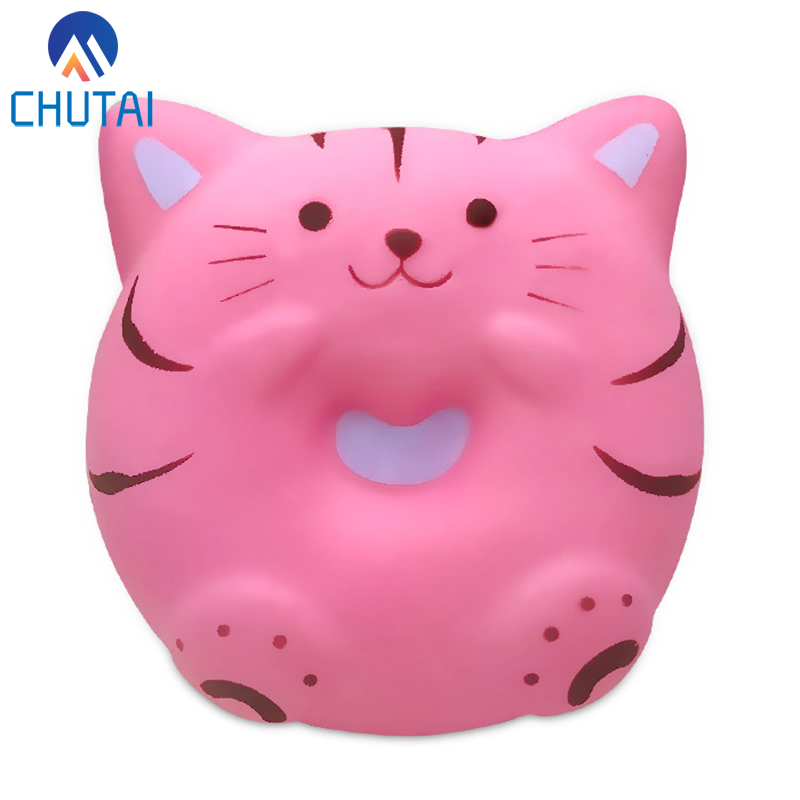 Kawaii Cartoon Pink Panda Donut Squishy Slow Rising Squeeze Toys For Kids Baby Grownups Decompression Toys 10*9.5*3.5 CM