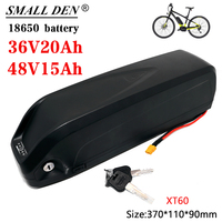 Batería de bicicleta eléctrica, 36V, 48V, 15Ah, 20Ah, 18650, Hailong, caja de batería con USB, 500-1000W, kit de modificación de bicicleta eléctrica