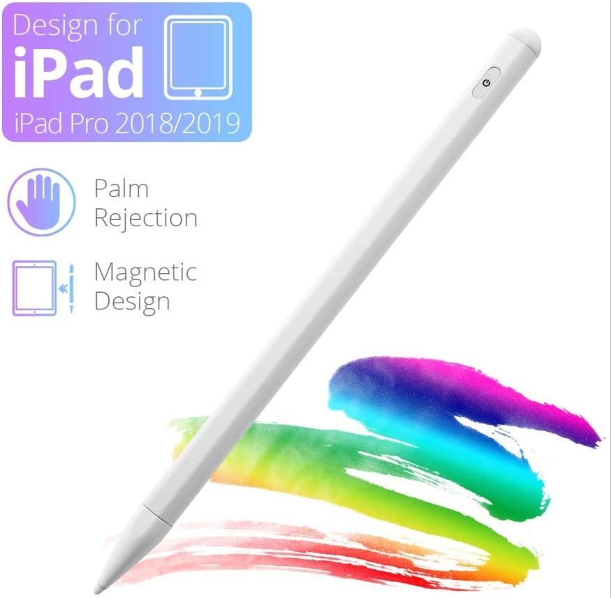 Apple pencil tablet caneta caneta stylus ativo para 2020 ipad pro 11 12.9 10.5 9.7 mini 5 ar inteligente caneta de toque de rejeição palma caneta