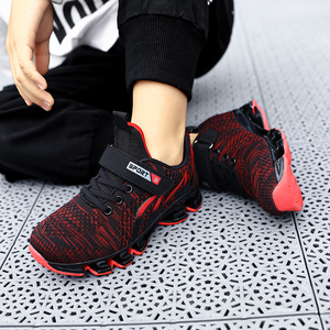 Image 5 - Big Children Running Shoes Boys Sneakers Spring Autumn Breathable Shoes Kids Sport Shoes Light Outdoor Hollow Sole Tenis Shoes