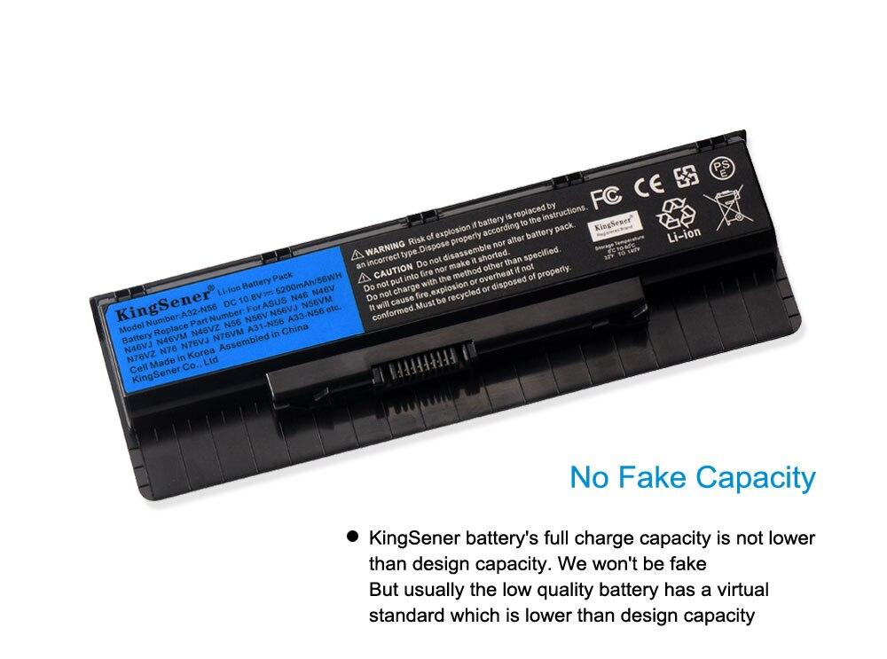 Batterie per ASUS N56VV N56VZ N76 N76V N76VB N76VJ N76VM N76VZ A32-N56