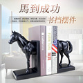 American Home Decoration Bookstand Crafts Creative books rely Animal Horse European-style retro bookshelf Home Horsehead