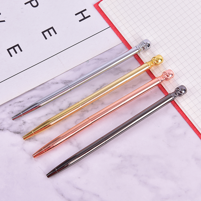 HOT 1pc Luxury Ball Pens Novelty Skull Ballpoint Pens Metal Ball Pens Office Supplie