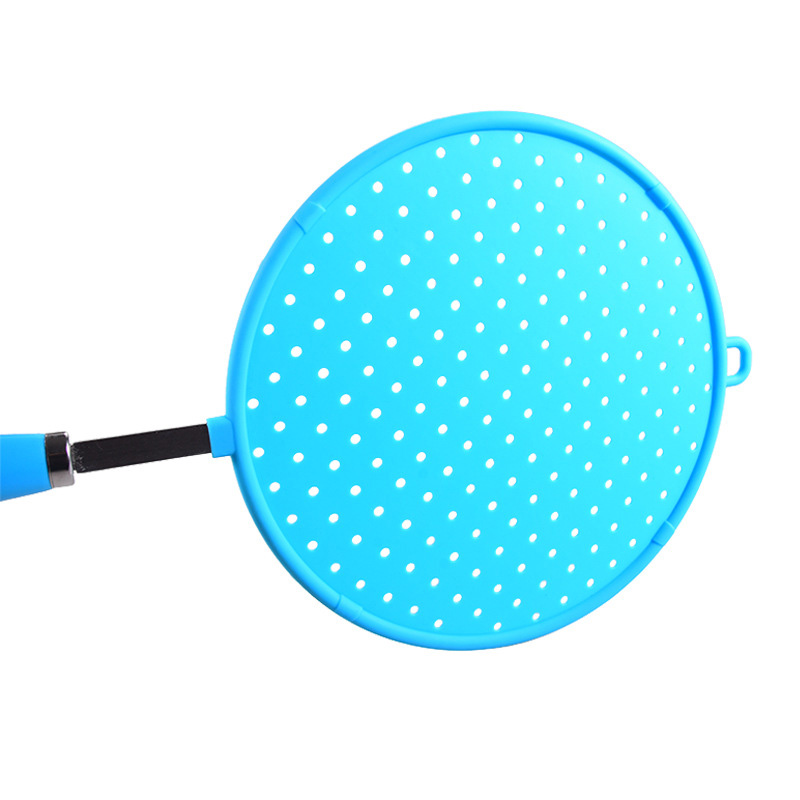 Tenrry Silicone Colorful Splatter Screen Grease Oil Guard Shield Fry Protectors with Non-Slip Handle