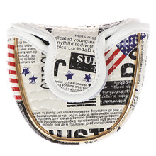 US Newspaper Golf Putter Covers Outdoor Waterproof USA Flag Golf HeadCovers For Man Women with Ball Stamper Golfer Gift(China)