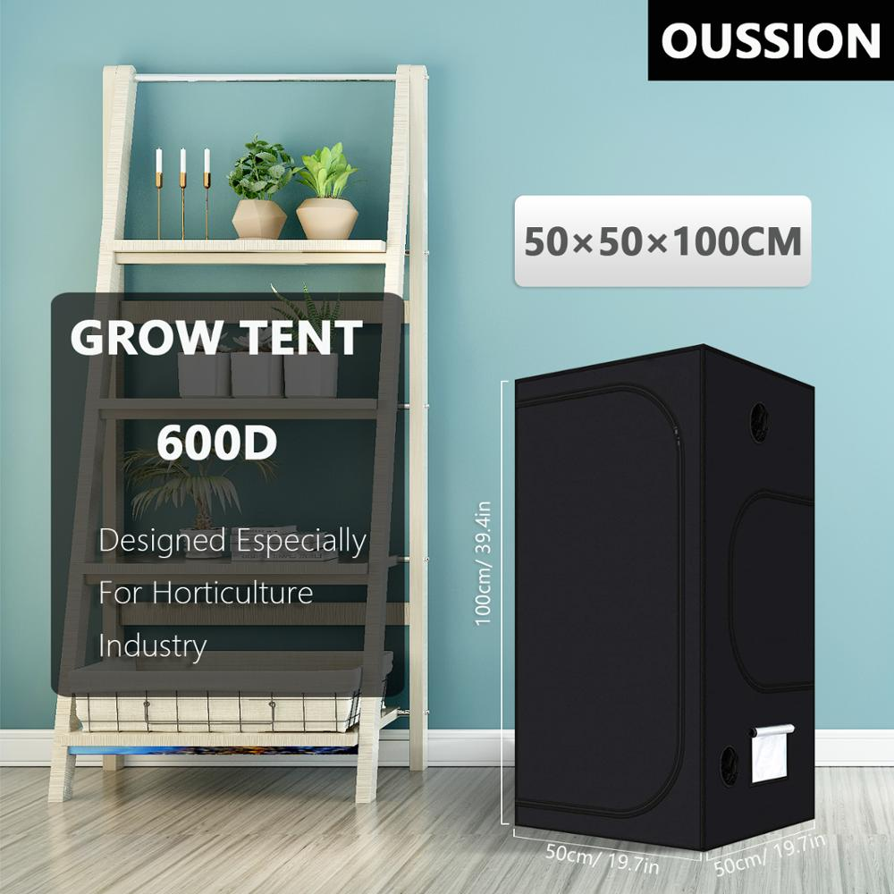Шатер для выращивания растений, 50*50*100 см, светоотражающий майлар для выращивания растений в помещении, для теплицы, для гидропоники, Оксфорд