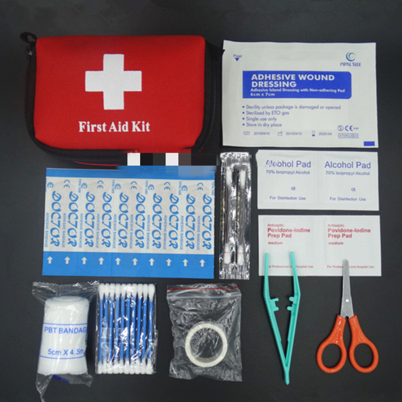 Emergency Medical Survival Treatment Rescue Box First Aid Kit Waterproof EVA Bag Person Portable Outdoor Travel Drug Pack Kits 6