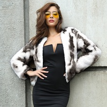 Furry Fur Coat Women Fluffy Warm Long Sleeve Gradient Color Outerwear Autumn Winter Coat Jacket Hairy Collarless Overcoat 2C0241 furry fur coat women fluffy warm long sleeve outerwear autumn winter coat jacket hairy collarless overcoat plus size 3xl genuo