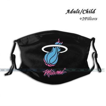 New Heat - Miami Merch Custom Design Face Mask Anti Dust Filter Diy Print Washable For Adult Kids Logo