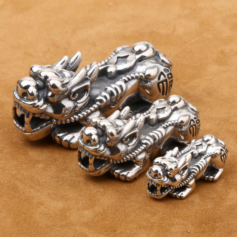 925 Sterling Silver PI YAO Beads Thai Silver Pi Yao DIY Bead Supply High Quality A138