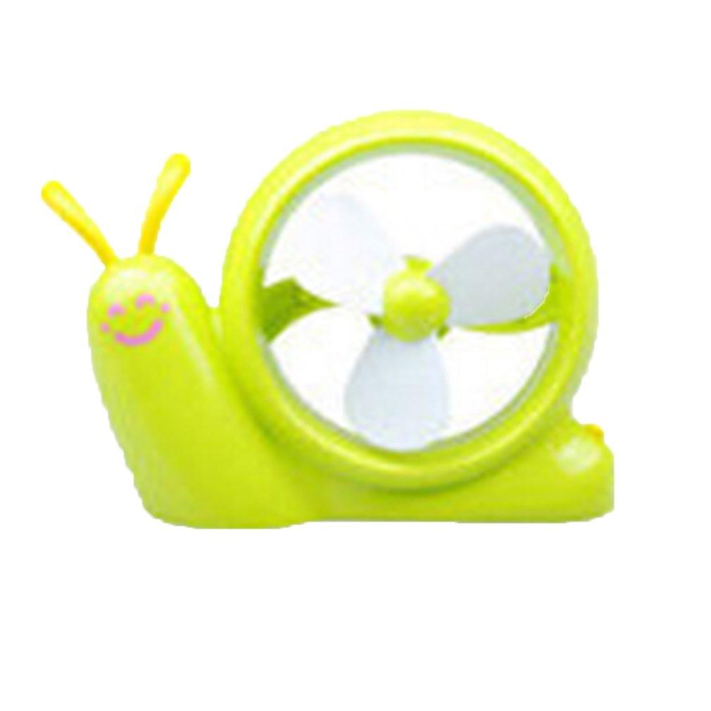 USB /& AA Battery Powered Cute Snail-Shaped Desk Fan