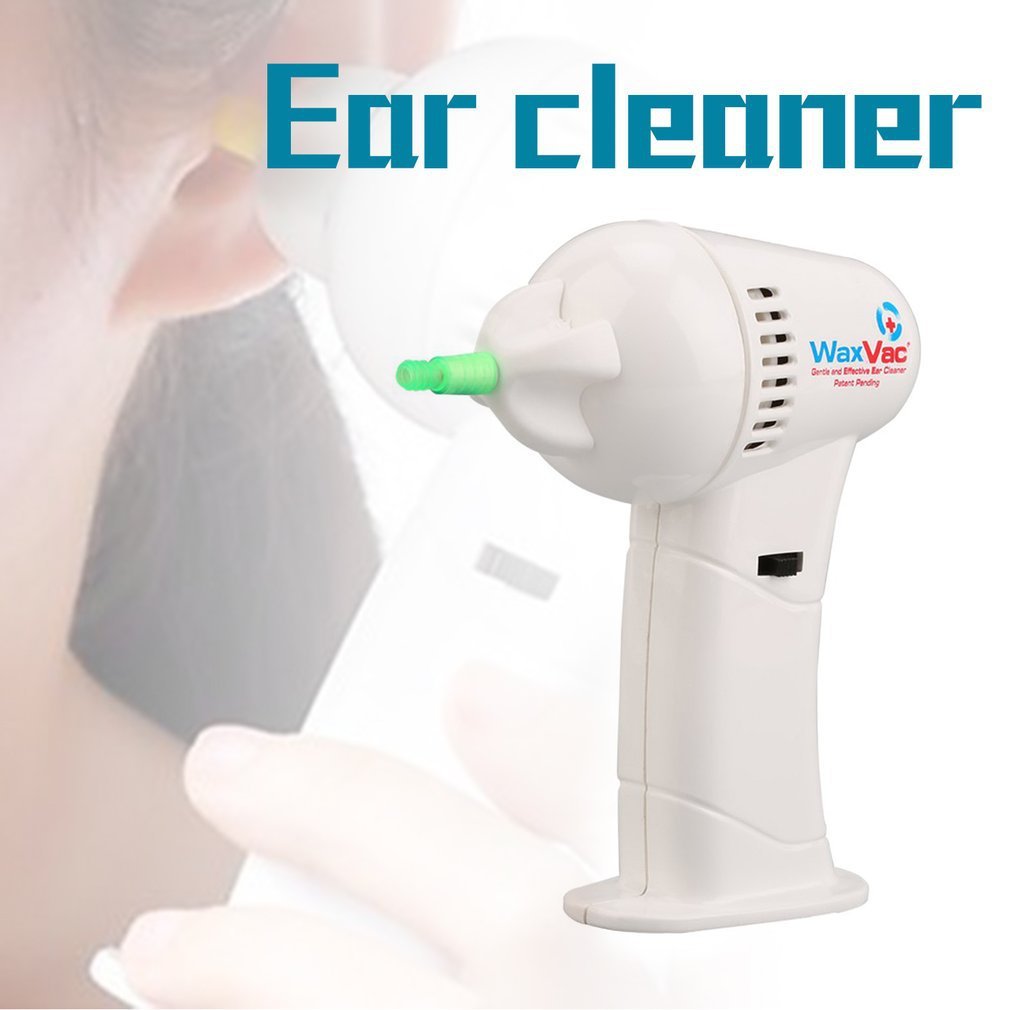 Portable Size Electronic Ear Vacuum Cleaner Ear Wax Vac Removal Safety Body Health Care With Soft & Safety Head