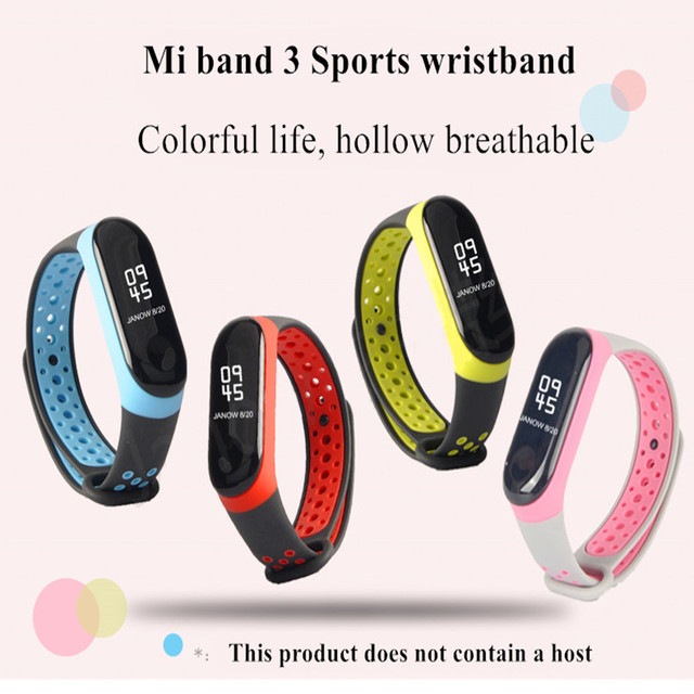 For Mi Band 3 4 strap sport Silicone watch wrist Bracelet miband3 strap accessories bracelet smart for Xiaomi mi band 3 4 strap 1