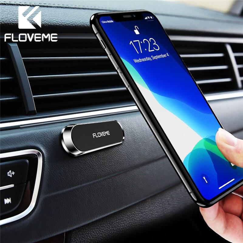 FLOVEME Magnetic Car Phone Holder For Phone In Car Strong Magnet Strip Phone Holder For IPhone 11 Pro Samsung Universal Suporte