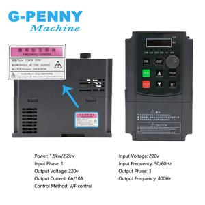 Image 3 - شحن مجاني! 220 فولت 1.5kw Inveter 2.2kw VFD عاكس التردد محول محول تردد متغير سرعة المحرك التحكم