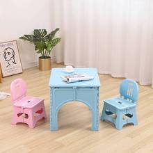 детский стол и стул Baby folding dining table and chair set children household plastic writing desk outdoor portable tables
