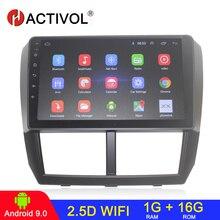 HACTIVOL Quadcore 2 din android 9.1 차량용 라디오 Subaru Forester Impreza 2008 2009 2010 2011 2012 차량용 DVD 플레이어 블루투스