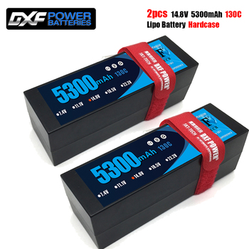DXF batería lipo 4S 14,8 V 5300mAh 130C/260C XT60 T XT90 macho HardCase Lipo batería para RC HPI HSP 1/8 1/10 Buggy RC coche camión