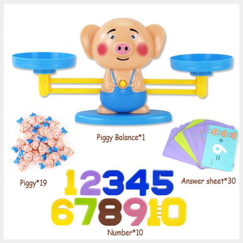 เด็กลิงสมดุลเกมคณิตศาสตร์ของเล่น Match BOARD Balancing Scale หมายเลขของเล่นเพื่อการศึกษาเด็กเรียนรู้เพิ่มและลบ
