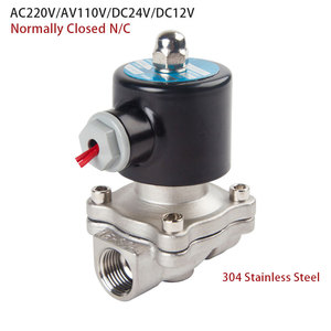"""Image 3 - Stainless steel Electric Solenoid Valve 1/4"""" 3/8"""" 1/2"""" 3/4"""" 1"""" Normally Closed Pneumatic for Water Oil Air gas 12V/24V/220V/110V"""