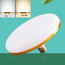 E27 lâmpada led 220v lâmpada led super brilhante 20w 30 50 60 ufo leds luzes interior branco quente iluminação candeeiros de mesa luz da garagem