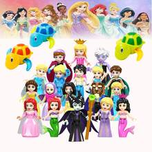 Series Cinderella White Snow Doll Building Blocks ToysCollection Bricks Tortoise Baby Water Toy Infant Swim Turtle zk27(China)